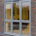 Aluminium Casement Window on a house